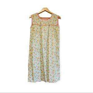 Vintage handmade floral cottagecore night dress M